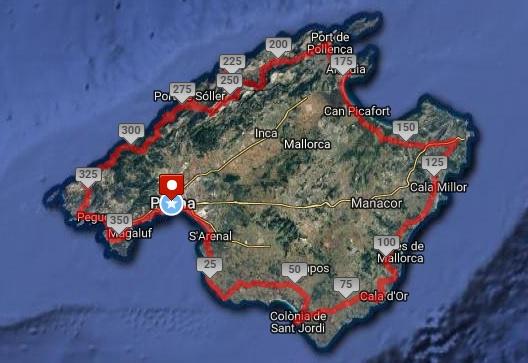 Mallorca Run Trip tracé
