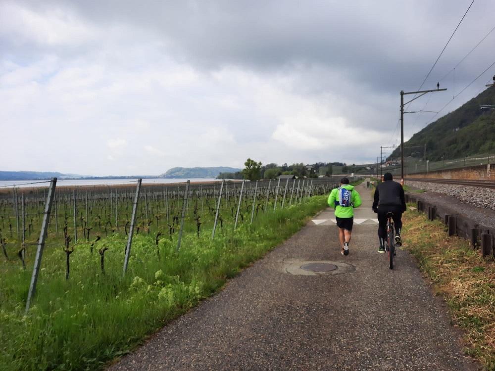 Tour du lac de Bienne avec Mika